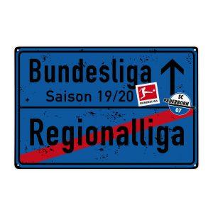Blechschild SC Paderborn