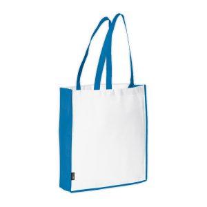 Einkaufstasche weiß-blau