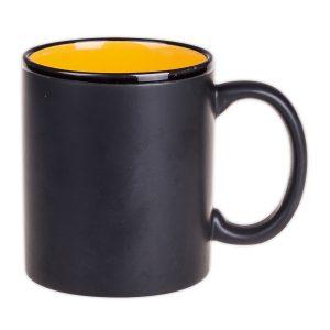 Kaffeebecher schwarz gelb