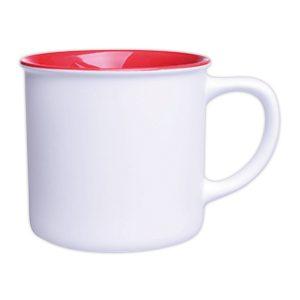Kaffeebecher weiß-rot